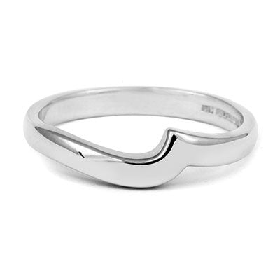 Flat Sweep Wedding Ring- Yellow or White Gold (18ct) or Platinum - CRED Jewellery - Fairtrade Jewellery - 5