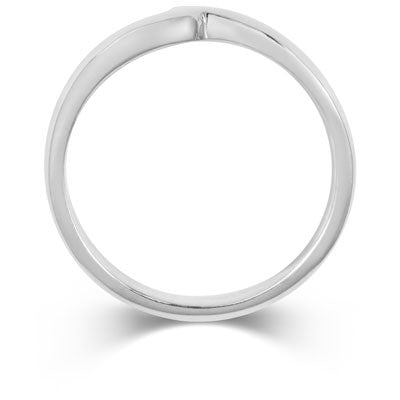 Flat Sweep Wedding Ring- Yellow or White Gold (18ct) or Platinum - CRED Jewellery - Fairtrade Jewellery - 3