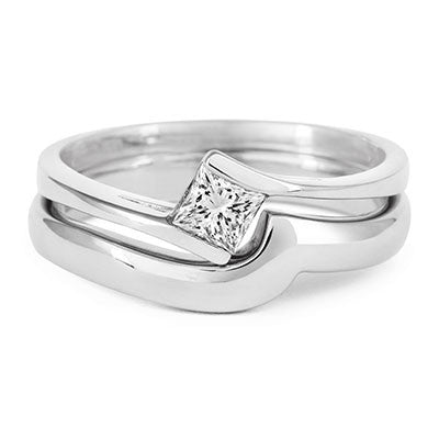 Flat Sweep Wedding Ring- Yellow or White Gold (18ct) or Platinum - CRED Jewellery - Fairtrade Jewellery - 4
