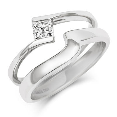Flat Sweep Wedding Ring- Yellow or White Gold (18ct) or Platinum - CRED Jewellery - Fairtrade Jewellery - 7