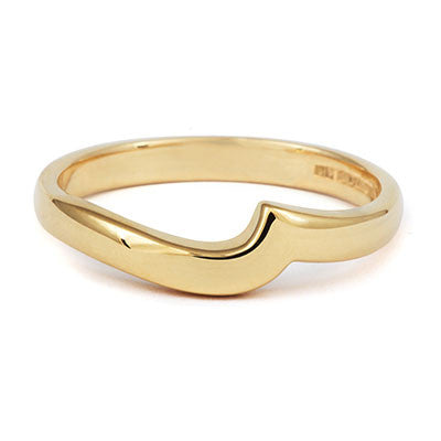 Flat Sweep Wedding Ring- Yellow or White Gold (18ct) or Platinum - CRED Jewellery - Fairtrade Jewellery - 2