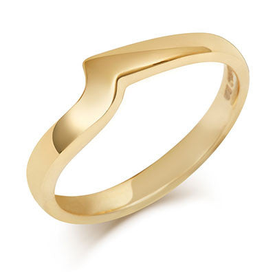 Flat Sweep Wedding Ring- Yellow or White Gold (18ct) or Platinum - CRED Jewellery - Fairtrade Jewellery - 6