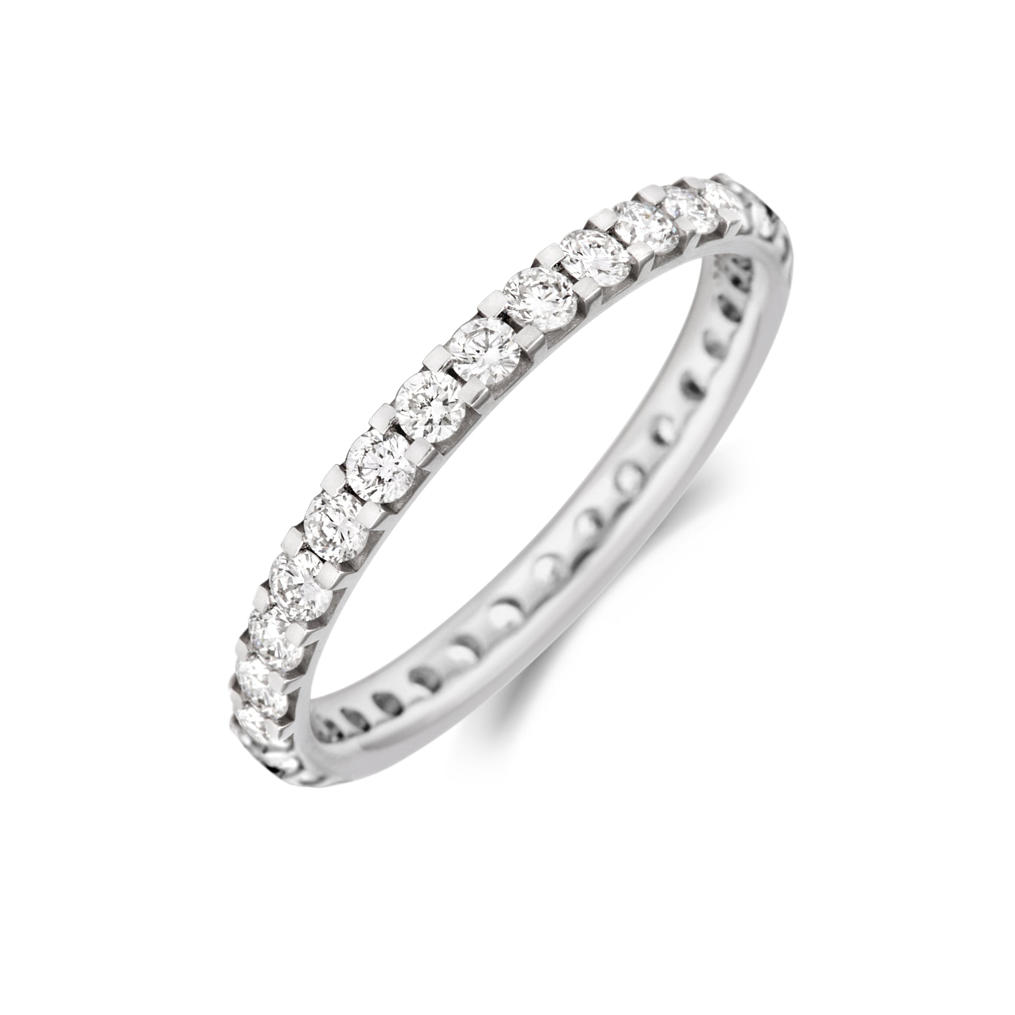 Claw Set Diamond Full Set Eternity/Wedding Ring - (18ct) Yellow, White or Rose Gold or Platinum