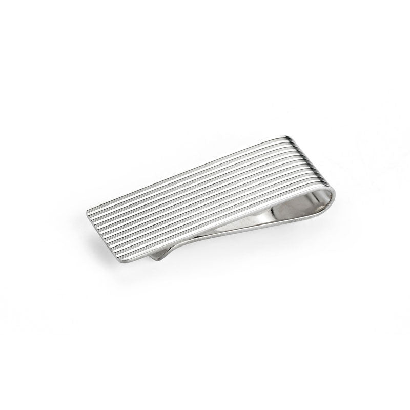 Silver Engine Turned Money Clip - CRED Jewellery - Fairtrade Jewellery - 1
