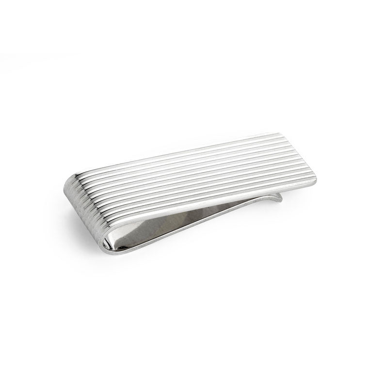 Silver Engine Turned Money Clip - CRED Jewellery - Fairtrade Jewellery - 2