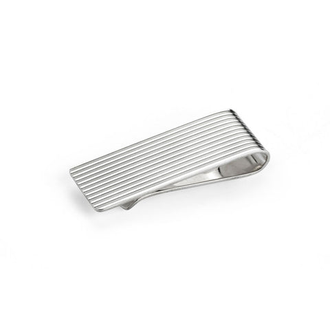 Silver Engine Turned Money Clip
