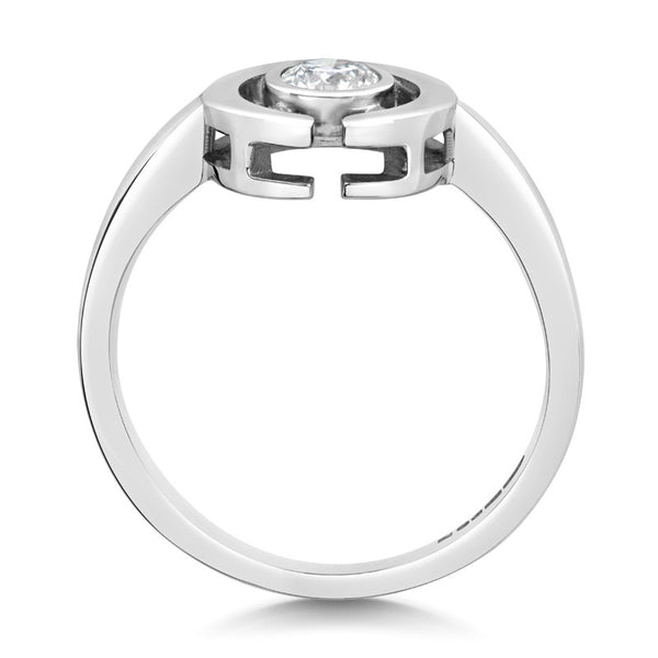 Clara Ethical Solitaire Diamond Engagement Ring - CRED Jewellery - Fairtrade Jewellery - 2