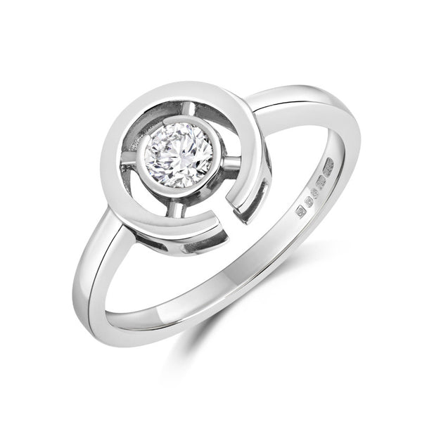 Clara Ethical Solitaire Diamond Engagement Ring - CRED Jewellery - Fairtrade Jewellery - 1