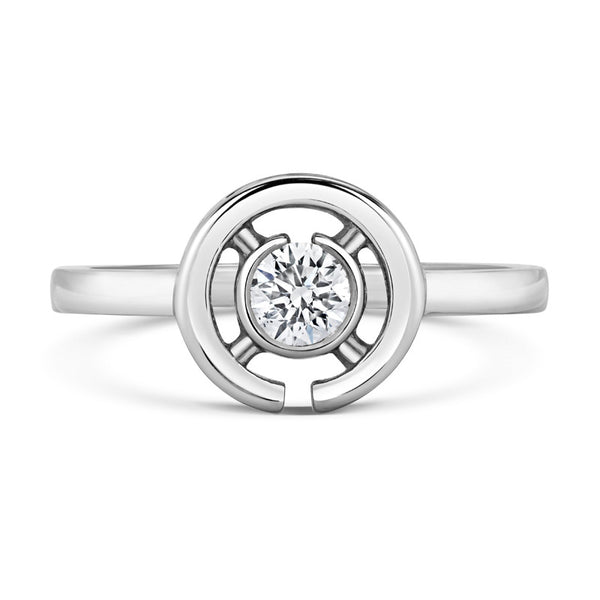 Clara Solitaire Ethical Engagement Ring - CRED Jewellery - Fairtrade Jewellery - 3