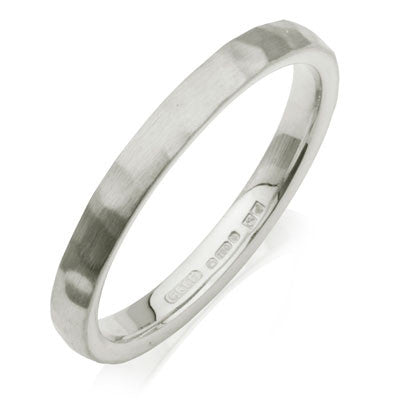 Court Hammered Wedding Ring- Yellow or White Gold (18ct) or Platinum - CRED Jewellery - Fairtrade Jewellery - 2