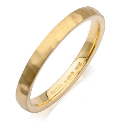 Court Hammered Wedding Ring- Yellow or White Gold (18ct) or Platinum - CRED Jewellery - Fairtrade Jewellery - 3