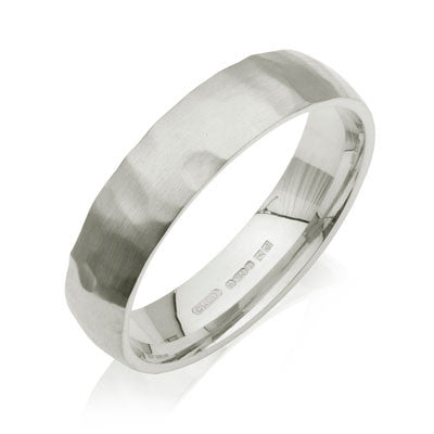 Court Hammered Wedding Ring- Yellow or White Gold (18ct) or Platinum - CRED Jewellery - Fairtrade Jewellery - 5