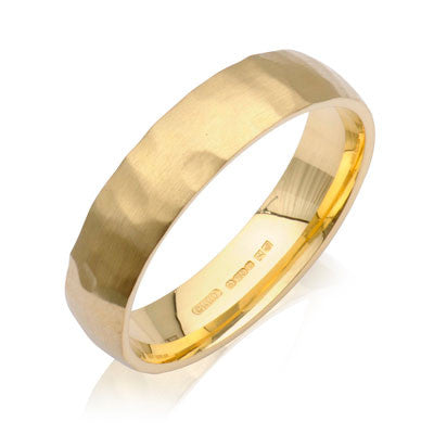 Court Hammered Wedding Ring- Yellow or White Gold (18ct) or Platinum - CRED Jewellery - Fairtrade Jewellery - 6