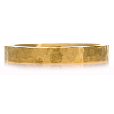 Flat Court Hammered Wedding Ring - CRED Jewellery - Fairtrade Jewellery - 4