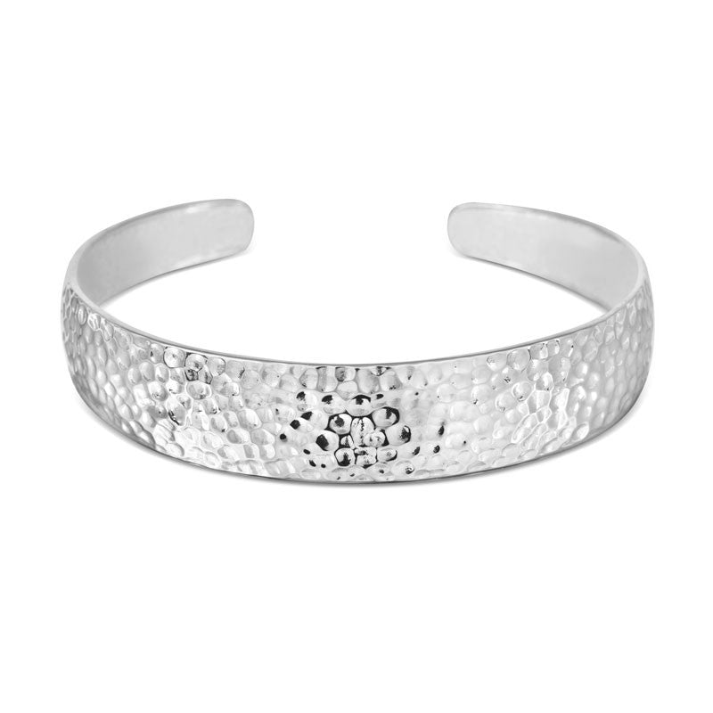 Hammered Cuff Bangle - CRED Jewellery - Fairtrade Jewellery