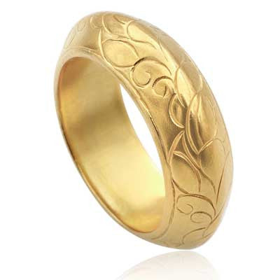 Hanga engraved band ring - CRED Jewellery - Fairtrade Jewellery - 5