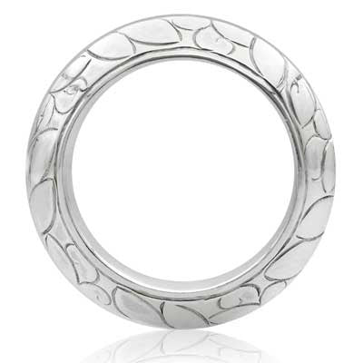 Hanga engraved band ring - CRED Jewellery - Fairtrade Jewellery - 3