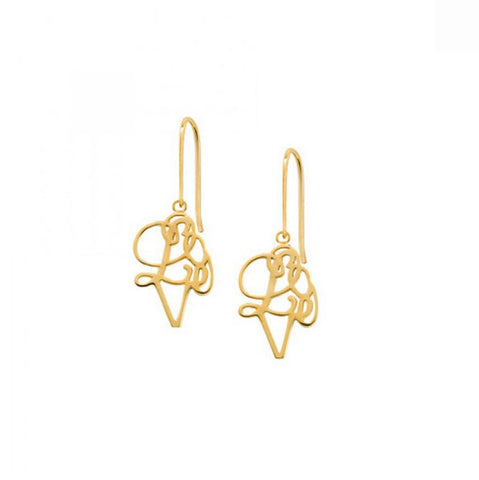 Hidden Love Delicate Drop Earrings