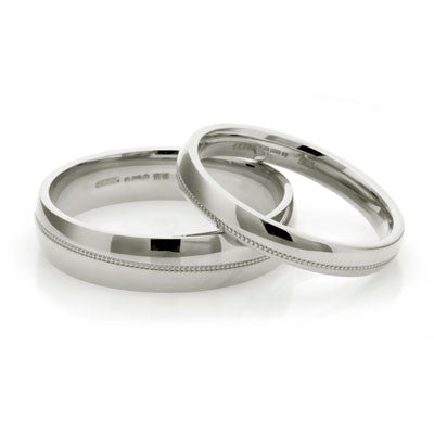 Infinity Wedding Ring - Yellow or White Gold (18ct) or Platinum