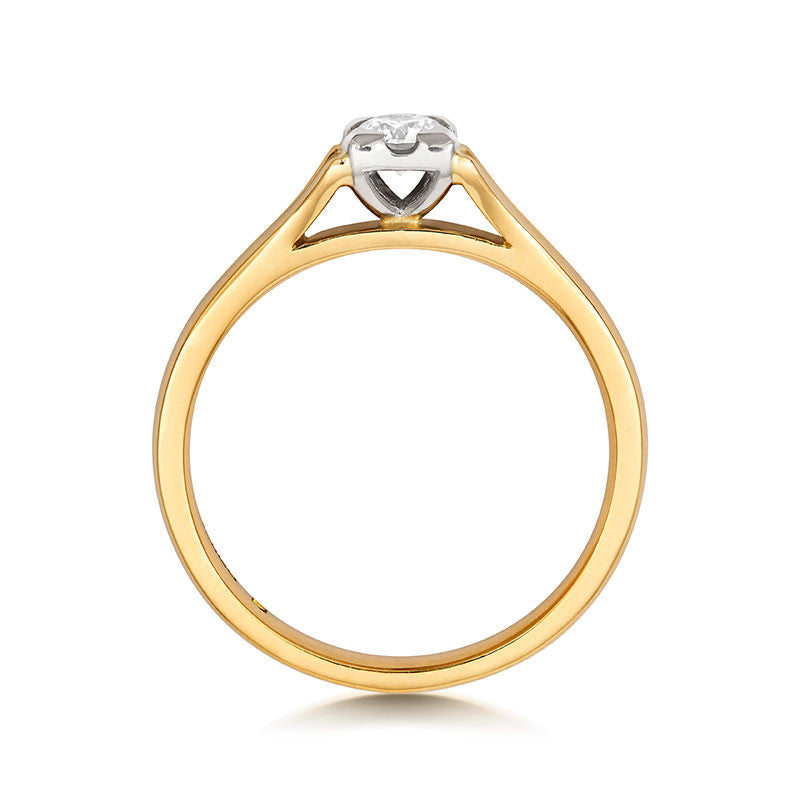 Kalla Solitaire Ethical Engagement Ring - CRED Jewellery - Fairtrade Jewellery - 4