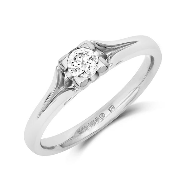Kalla Solitaire Ethical Engagement Ring - CRED Jewellery - Fairtrade Jewellery - 3