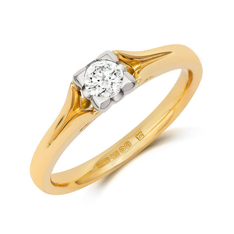 Kalla Brilliant Cut Ethical Solitaire Diamond Engagement Ring