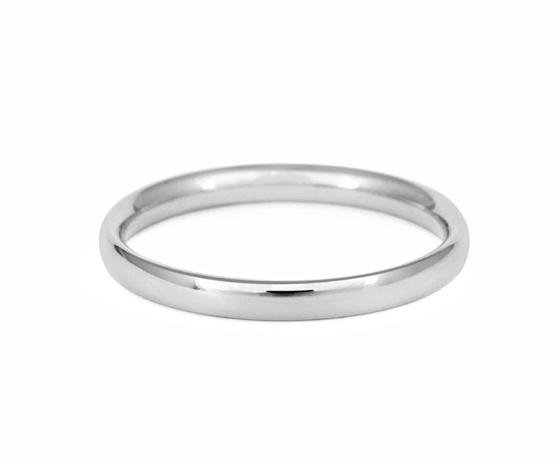 Simple Court Wedding Ring- Fine Weight - (18ct) White Gold - CRED Jewellery - Fairtrade Jewellery - 2