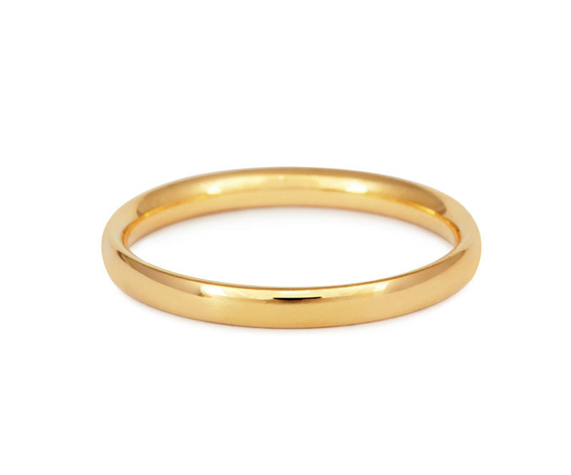 Simple Court Wedding Ring - Fine Weight (18ct)- Yellow Gold - CRED Jewellery - Fairtrade Jewellery - 2