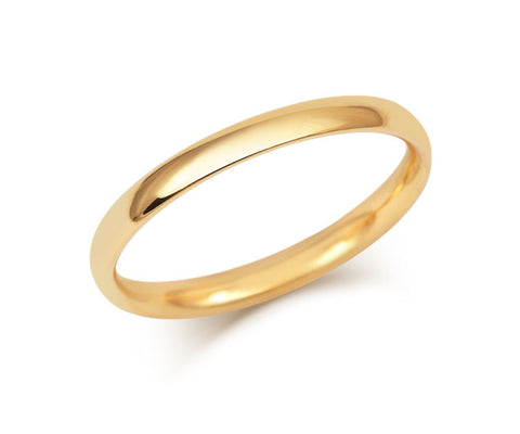 Simple Court Wedding Ring - Fine Weight (18ct)- Yellow Gold