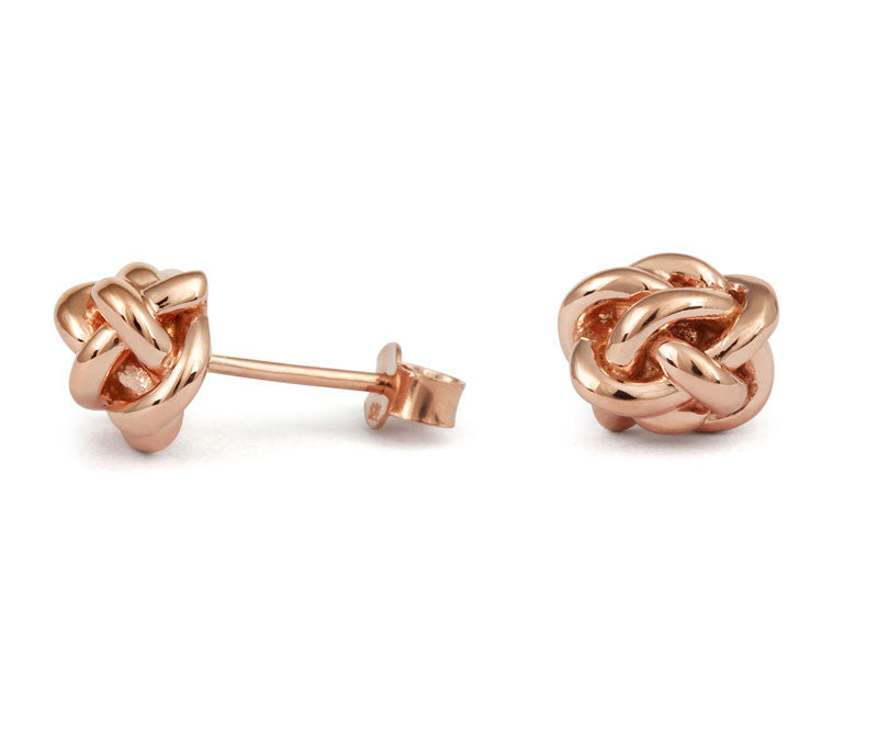 Diamond Knot Stud Earings - CRED Jewellery - Fairtrade Jewellery - 1