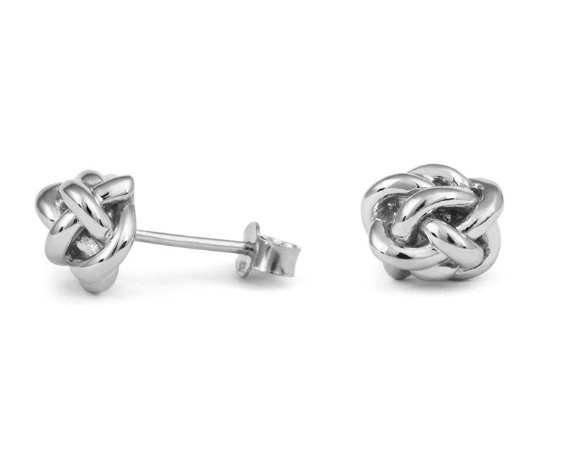 Diamond Knot Stud Earings - CRED Jewellery - Fairtrade Jewellery - 2