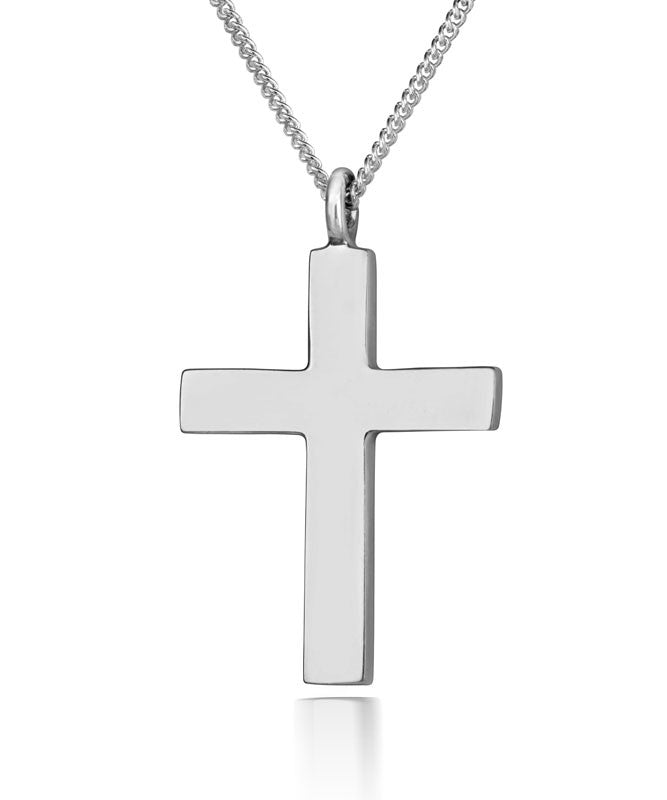 Large Silver Cross Pendant - CRED Jewellery - Fairtrade Jewellery