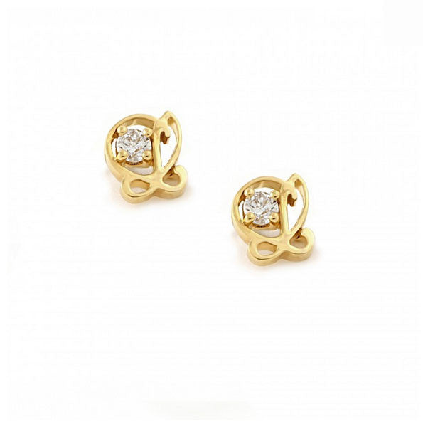 L is for Love Stud Earrings - CRED Jewellery - Fairtrade Jewellery