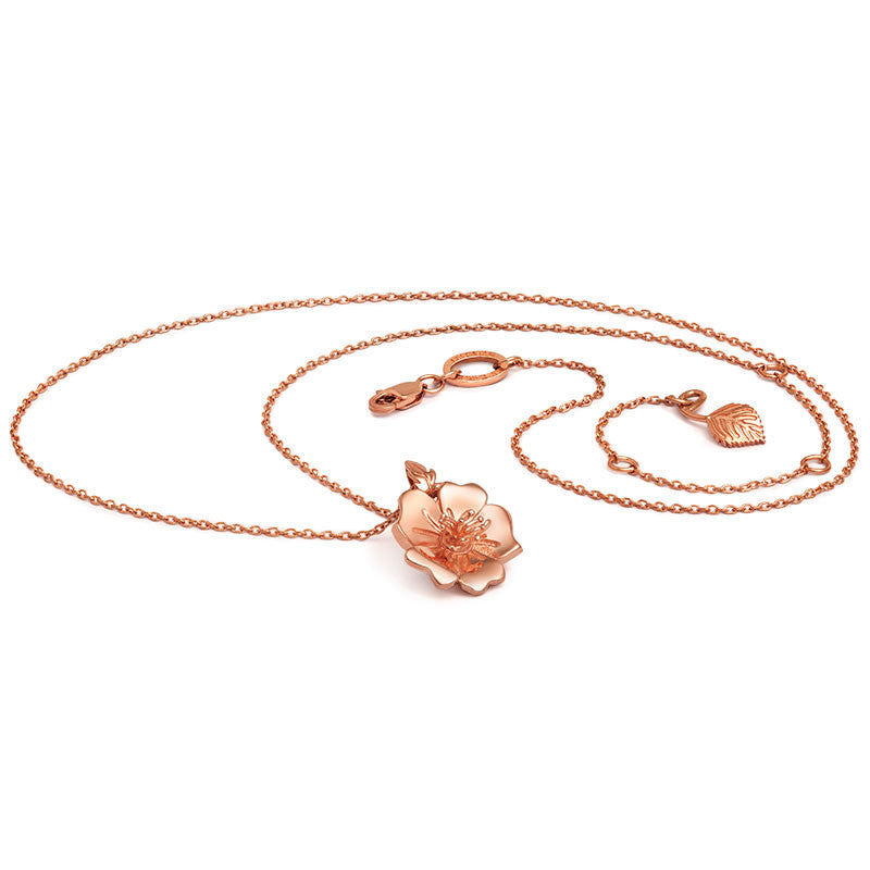Liz Earle Wild Rose Necklace - CRED Jewellery - Fairtrade Jewellery - 2
