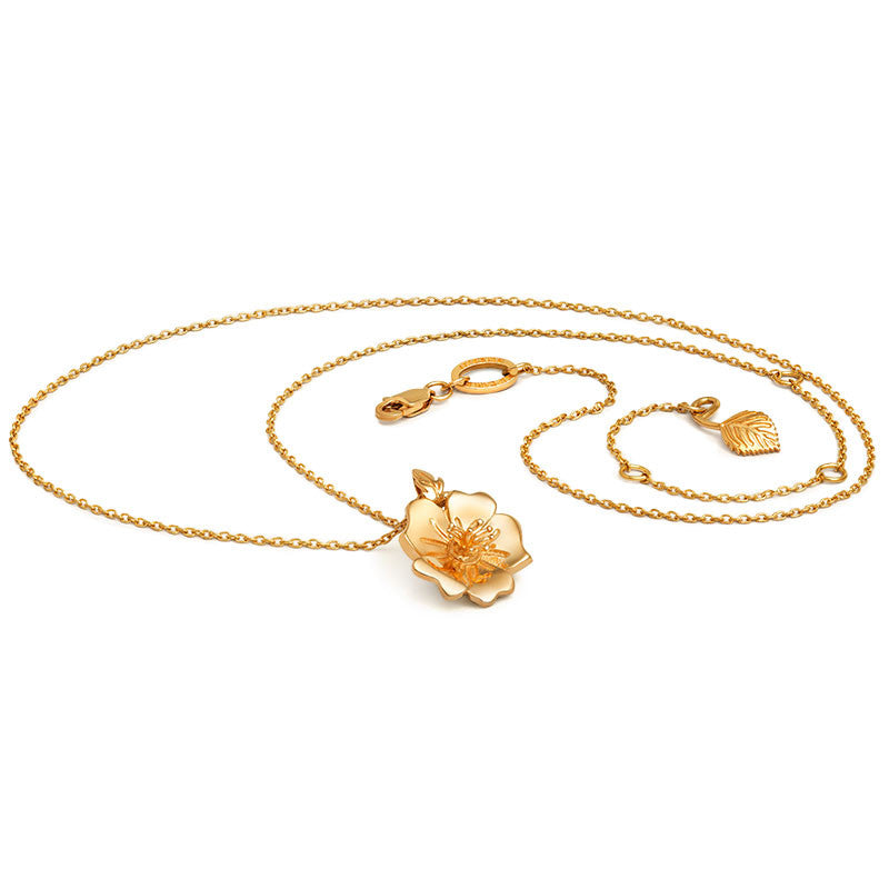 Liz Earle Wild Rose Necklace - CRED Jewellery - Fairtrade Jewellery - 1