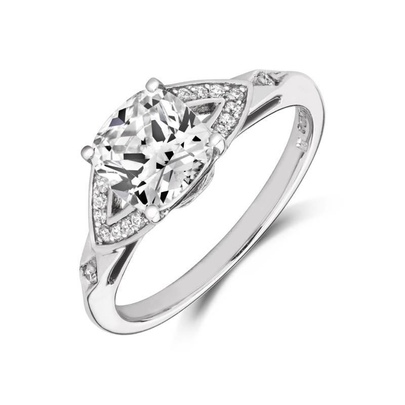 Luminous Solitaire Ethical Engagement Ring - CRED Jewellery - Fairtrade Jewellery - 1
