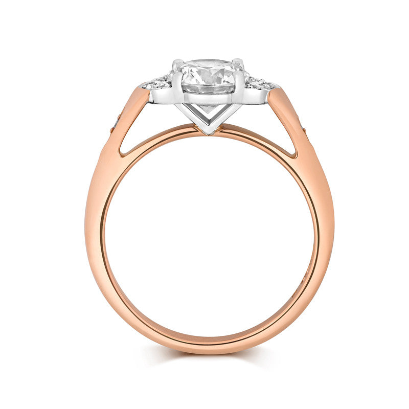 Luna Solitaire Ethical Engagement Ring - CRED Jewellery - Fairtrade Jewellery - 2