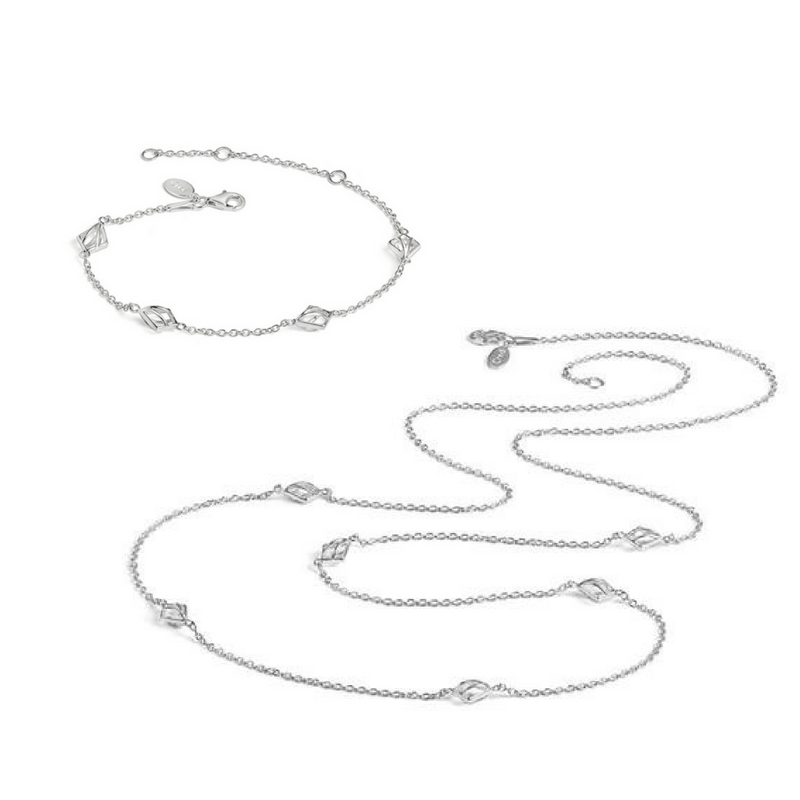 Nouveau Long Necklace and Bracelet Set - CRED Jewellery - Fairtrade Jewellery