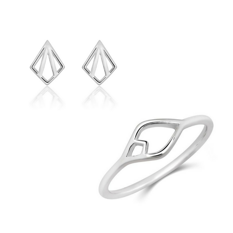 Nouveau Ring and Nouveau Stud Set - CRED Jewellery - Fairtrade Jewellery