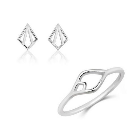 Nouveau Ring and Nouveau Stud Set