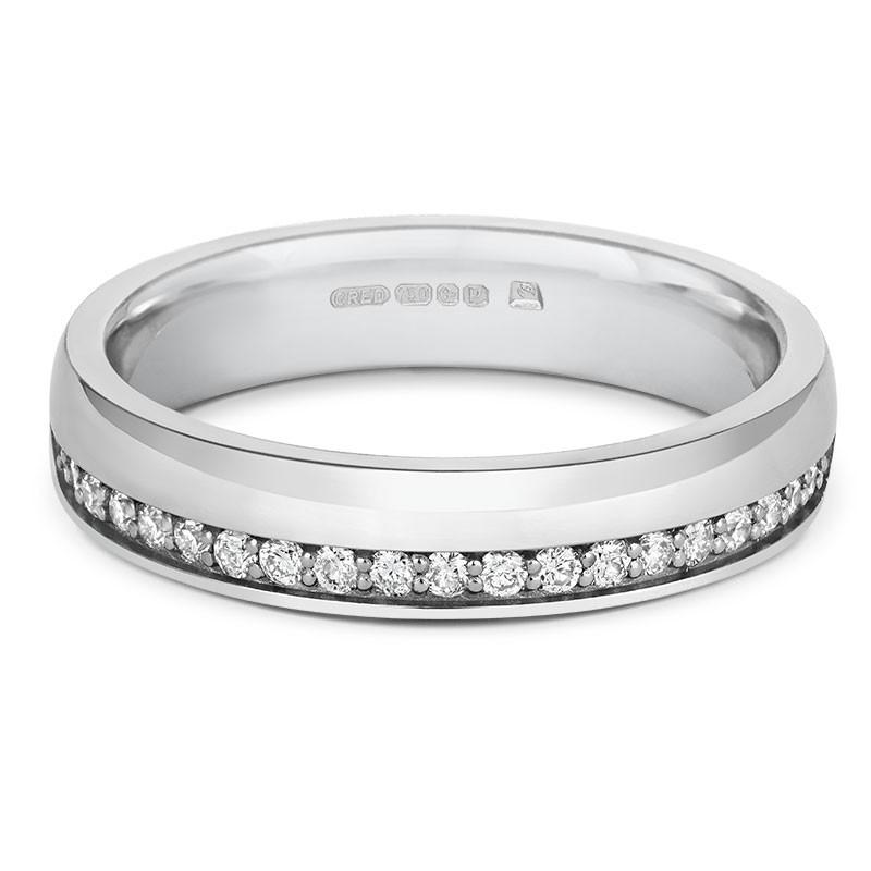 Offset Diamond Half Eternity Ring - CRED Jewellery - Fairtrade Jewellery - 2