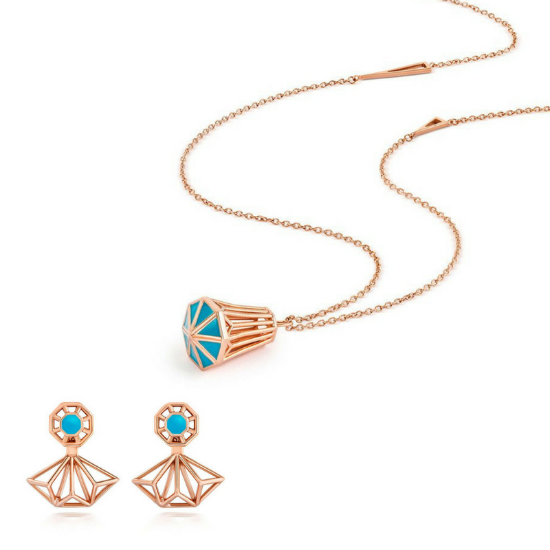 Origins Long Necklace and Ear Jacket Set - CRED Jewellery - Fairtrade Jewellery