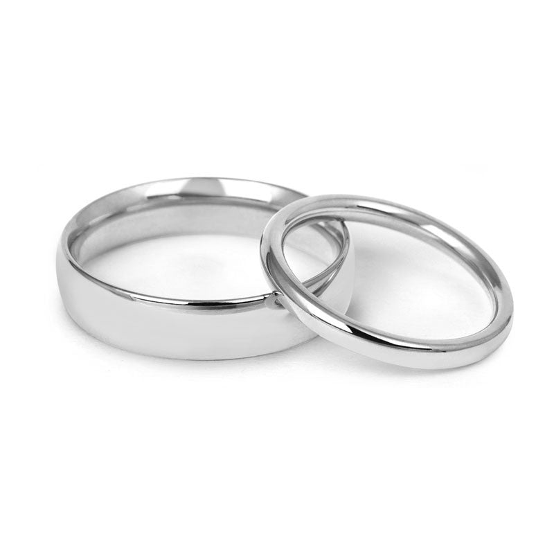 Signature Court Wedding Ring- Medium Weight- (18ct) White Gold - CRED Jewellery - Fairtrade Jewellery - 1