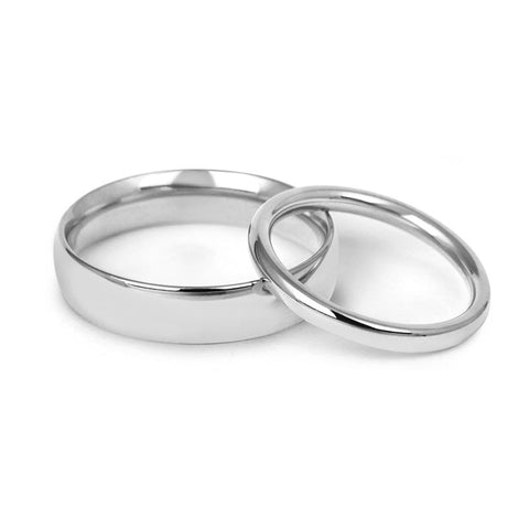 Signature Court Wedding Ring- Medium Weight- Platinum