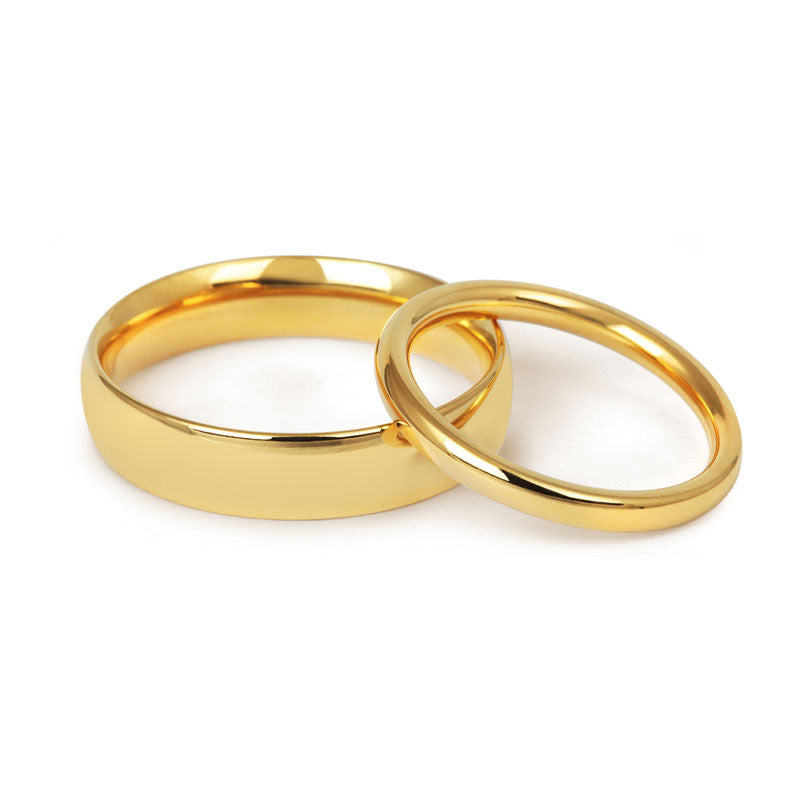 Signature Court Wedding Ring- Medium Weight- (18ct) Yellow Gold - CRED Jewellery - Fairtrade Jewellery - 1