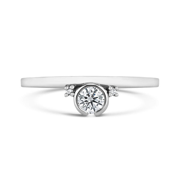 Petit Gemme Engagement Ring - CRED Jewellery - Fairtrade Jewellery - 3