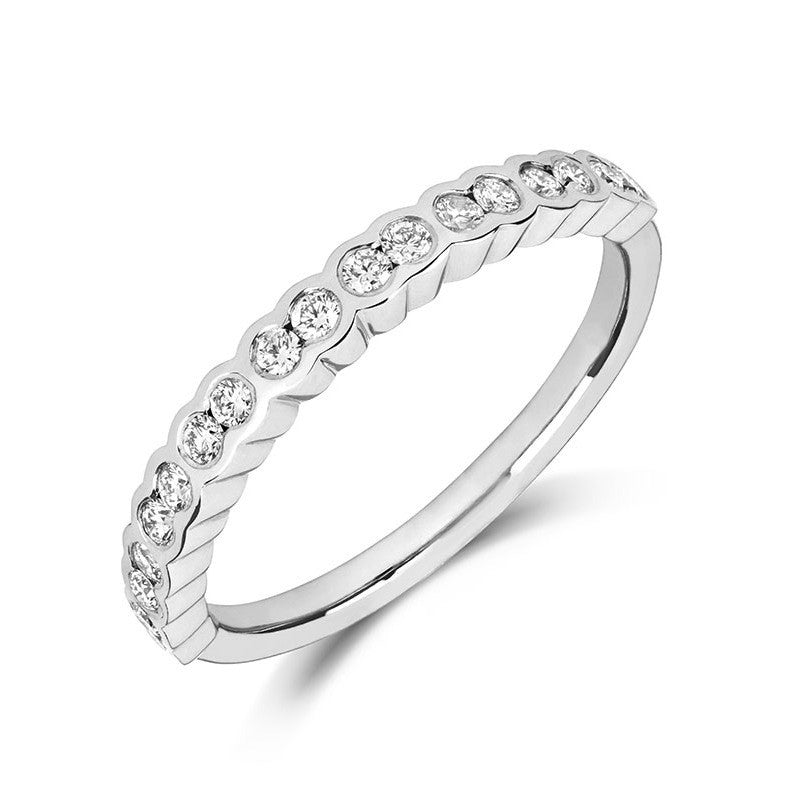 Petite Gemme Wedding Ring - CRED Jewellery - Fairtrade Jewellery - 1