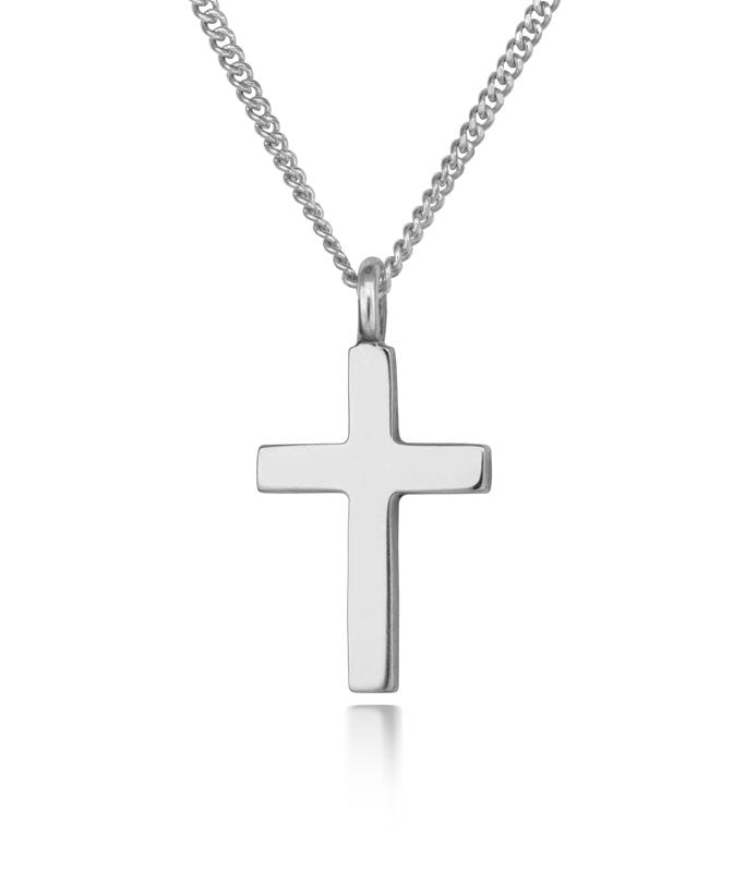 Silver Petite Cross Pendant - CRED Jewellery - Fairtrade Jewellery - 1
