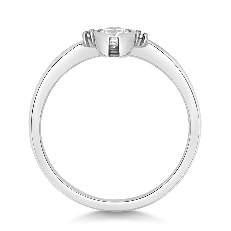 Petit Gemme Engagement Ring - CRED Jewellery - Fairtrade Jewellery - 2