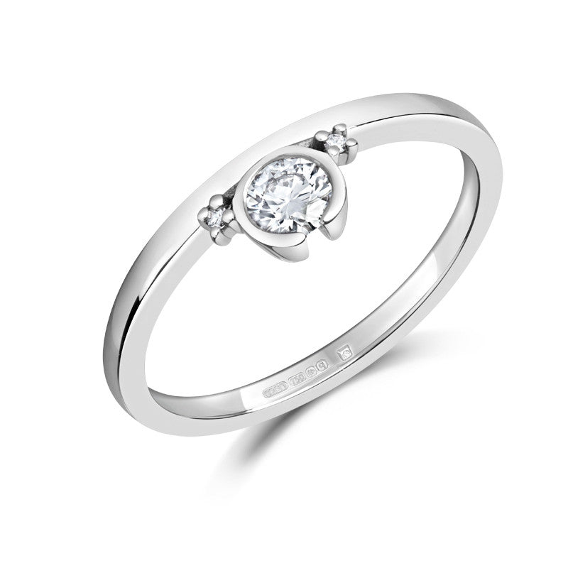 Petit Gemme Ethical Engagement Ring - CRED Jewellery - Fairtrade Jewellery - 1